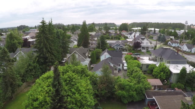 aerial shot mount vernon, washington - small town stock videos and b-roll footage