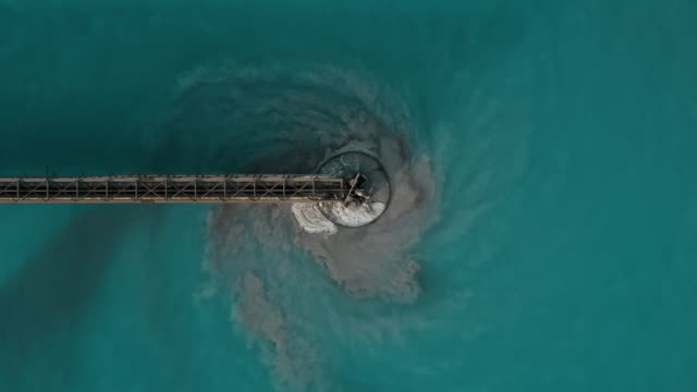 aerial shot moving up whilst looking directly down on a water treatment plant, arizona, united states of america - built structure stock videos & royalty-free footage