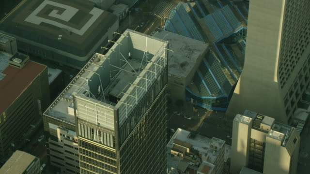 aerial shot of a high-rise building - rectangle stock videos & royalty-free footage