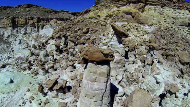 aerial shot of a hoodoo forest - page arizona stock videos and b-roll footage