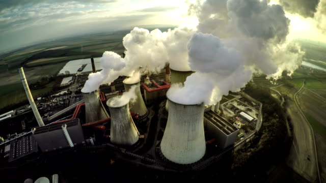 Aerial shot of a Power Station