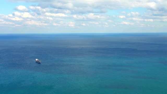 hd: aerial shot of a ship - atlantic ocean stock videos and b-roll footage