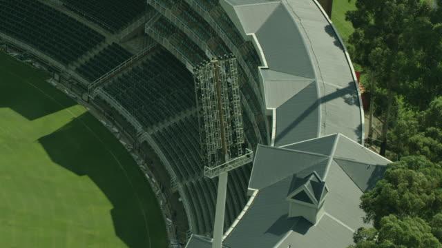 aerial shot of a stadium floodlight - ハウテング州点の映像素材/bロール