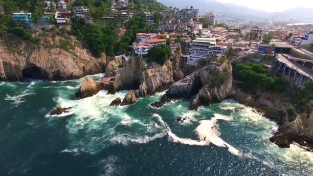Aerial shot of Acapulco Guerrero in Mexico