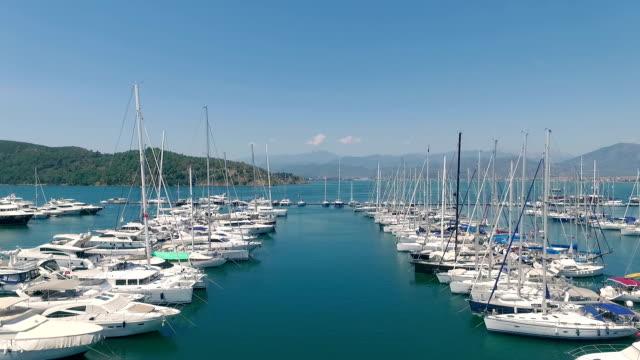 Aerial Shot of Aegean Marina