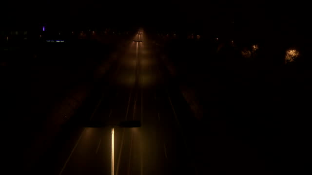 Aerial Shot Of An Empty Highway