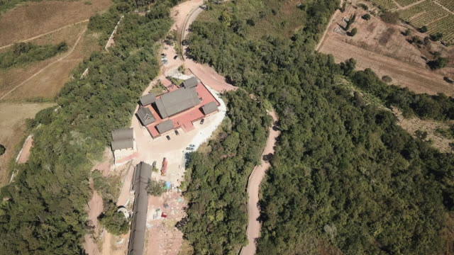 Aerial Shot Of Ancient Temple In Phu Rua City At Loei Province In Thailand