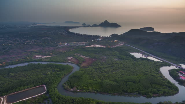aerial shot of ao manao prachuap khiri khan - big island hawaii islands stock videos & royalty-free footage