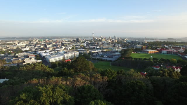 Aerial shot of Auckland City