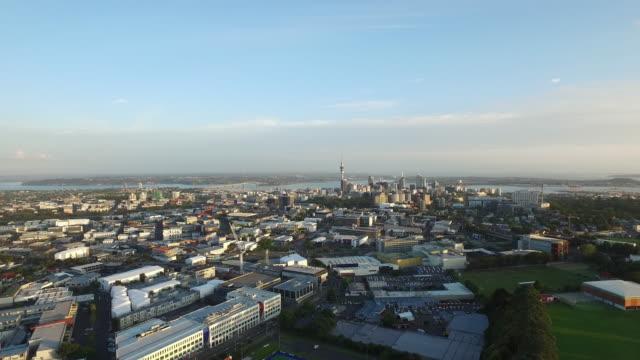 Aerial shot of Auckland City