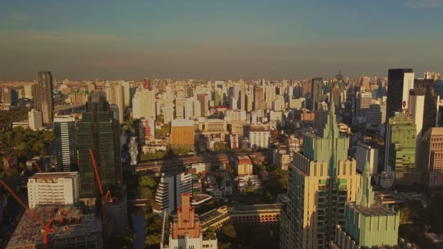 aerial shot of bangkok at evening,thailand - land vehicle stock videos and b-roll footage