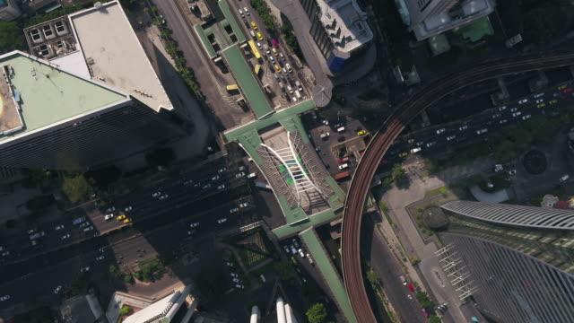 vídeos y material grabado en eventos de stock de disparo aéreo de la ciudad de bangkok, tailandia - multicóptero