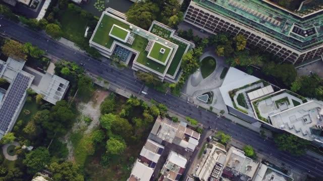Aerial shot of Bangkok neighborhood