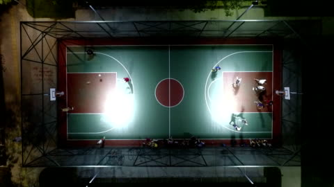 aerial shot of basketball court - sports court stock videos & royalty-free footage