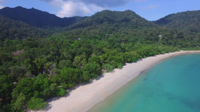 aerial shot of beach / malaysia - malaysia stock videos & royalty-free footage