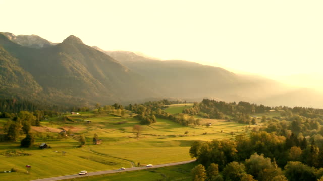 Aerial Shot Of Beautiful Countryside
