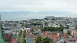 Aerial shot of beautiful Trondheim