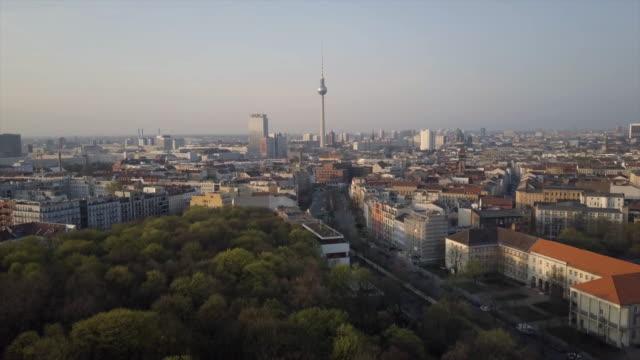 aerial shot of berlin - antenne stock-videos und b-roll-filmmaterial