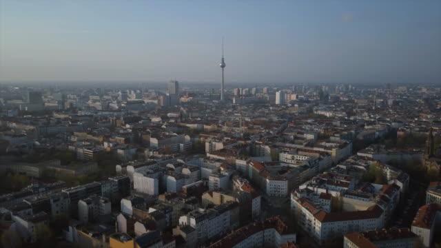 aerial shot of berlin - ベルリン点の映像素材/bロール