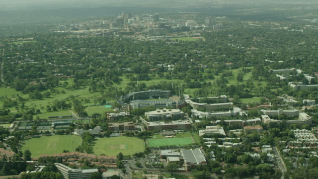 stockvideo's en b-roll-footage met aerial shot of bidvest wanderers stadium - gauteng provincie