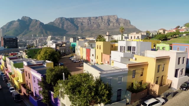 Aerial shot of Bo-Kaap in Cape Town