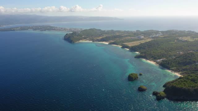 vídeos de stock e filmes b-roll de aerial shot of boracay island, philippines - filipinas