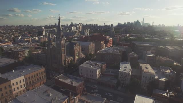 aerial shot of brooklyn, new york, united states - brooklyn new york stock videos & royalty-free footage