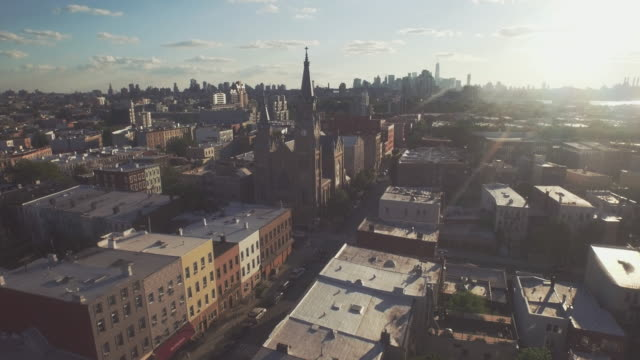 aerial shot of brooklyn, new york, united states - brooklyn new york stock videos & royalty-free footage