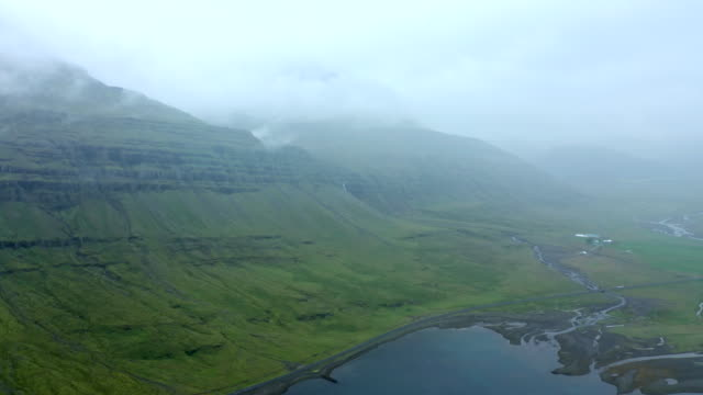 aerial shot of canyon in iceland - canyon lake stock videos & royalty-free footage
