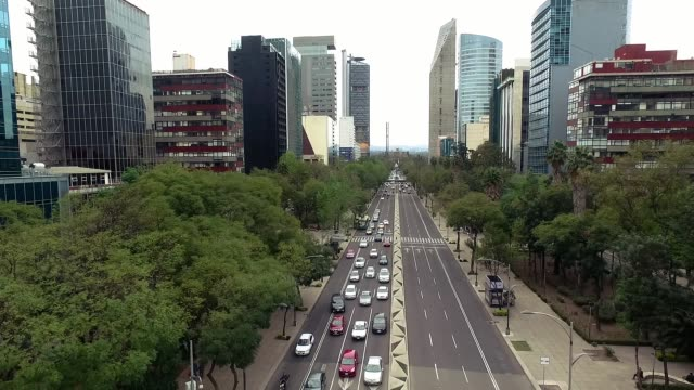 aerial shot of cars in mexico city - mexico city stock videos & royalty-free footage