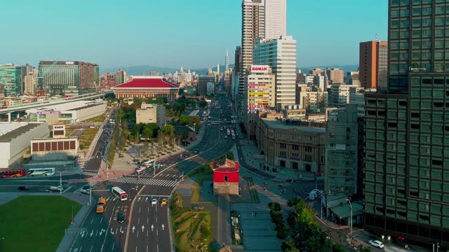 aerial shot of central cityscape in taipei, taiwan - taipei stock videos & royalty-free footage
