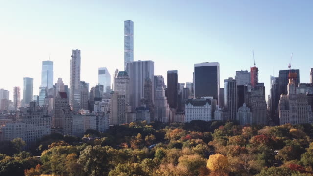 Aerial shot of Central Park and Midtown Manhattan