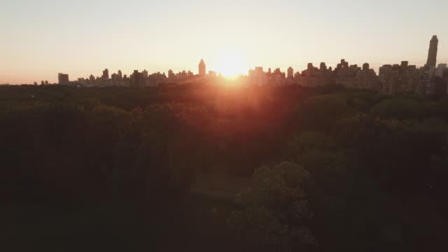 aerial shot of central park, manhattan, new york, united states - central park manhattan video stock e b–roll