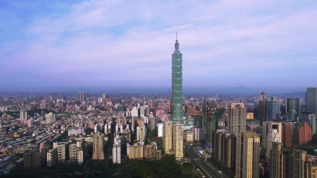 Aerial shot of city Taipei, Taiwan