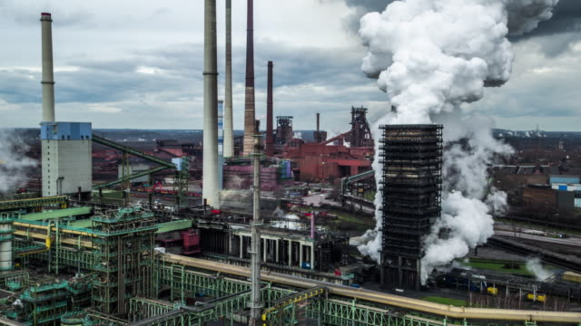 aerial shot of cokery - ruhr stock videos & royalty-free footage