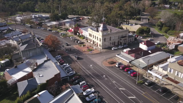 aerial shot of creswick victoria - town stock videos & royalty-free footage