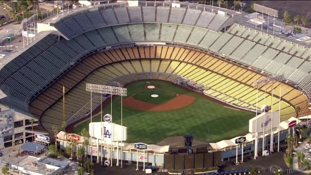 Aerial Shot of Dodgers Stadium in Los Angeles