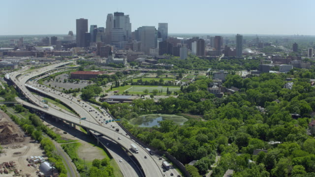 Aerial Shot Of Downtown Minneapolis