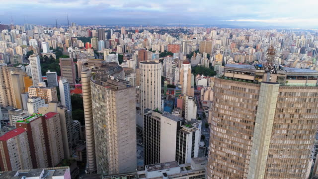 aerial shot of downtown, sao paulo, brazil - downtown stock videos & royalty-free footage