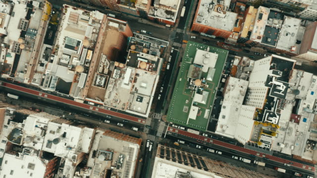 aerial shot of empty streets in soho, new york city. - new york city stock videos & royalty-free footage