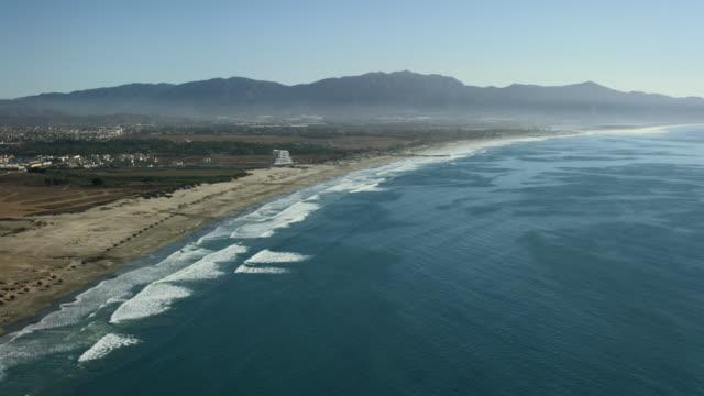 aerial shot of ensenada bay mexico - baja california norte stock videos & royalty-free footage