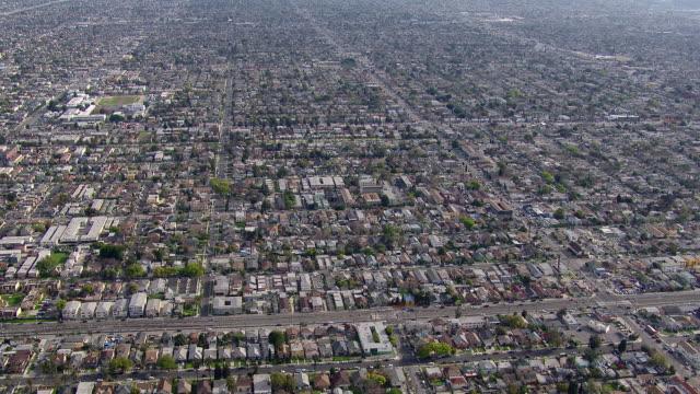Aerial shot of expansive South Los Angeles urban landscape.