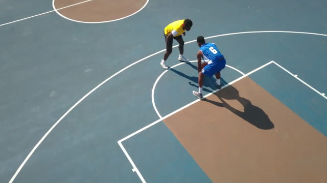 aerial shot of expert basketball player on offensive - number 6 stock videos & royalty-free footage