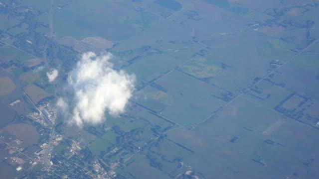Aerial shot of flying through Europe in 4K