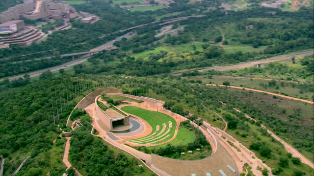 aerial shot of freedom park and surrounding area - pretoria stock videos & royalty-free footage