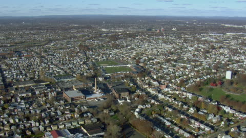 aerial shot of garfield new jersey - new jersey stock videos & royalty-free footage