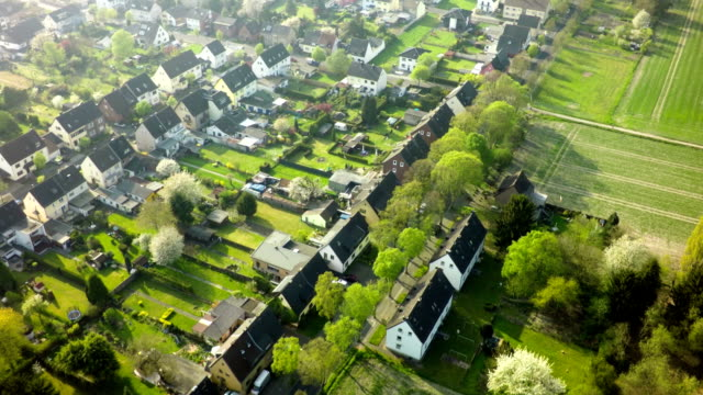 Aerial shot of German Town