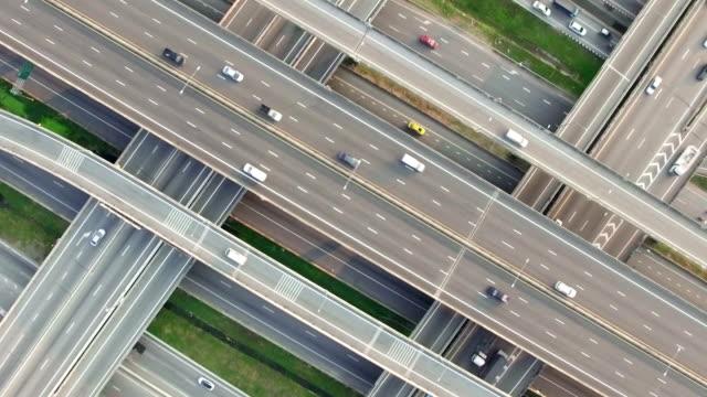 Luchtfoto van de snelweg verkeer in Bangkok Thailand