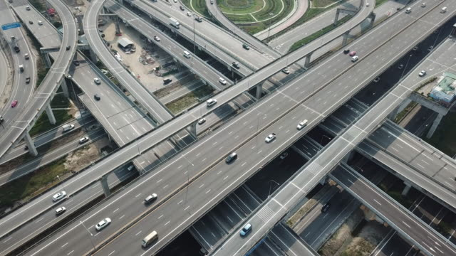 aerial shot of highway - direction stock videos & royalty-free footage