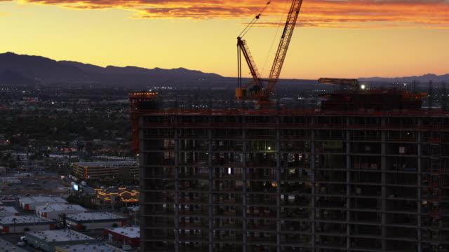 Aerial Shot of Hotel Under Construction in Las Vegas